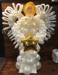 Anioł z balonów.