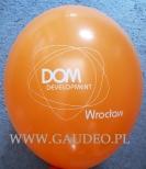 Logo nadrukowane na balonie.