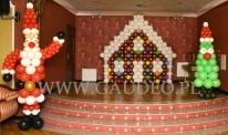 Scena Hotelu Oławian udekorowana balonami.