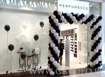 Dekoracja balonowa na otwarcie sklepu.