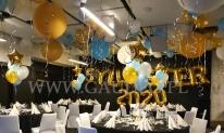 Dekoracja balonowa na sylwestra.