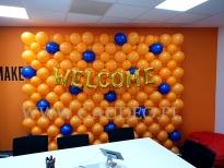 Balonowa dekoracja biura.