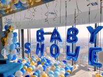 Dekoracja balonowa na Baby Shower.