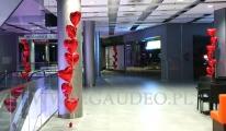 Balony serca z helem na walentynki w Sky Tower.