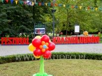 Dekoracja balonowa na Wrocławski Festiwal Krasnoludków.