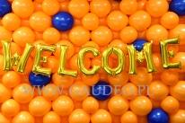 Balonowy napis WELCOME.