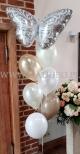 Balony z helem jako dekoracja na wesele.