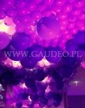 Balony z helem na imprezę firmy Milka.