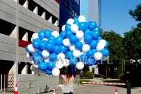 Balony helowe w pękach dostarczone do klienta.