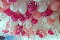 Balony z helem jako dekoracja imprezy.