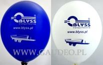 Balony z jednokolorowym nadrukiem.