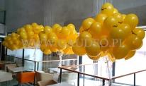 Balony z nadrukiem i helem.