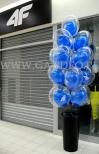 Balonowa dekoracja wejścia w Zielonej Górze.
