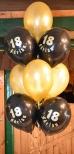 Balony z helem jako dekoracja urodzin.