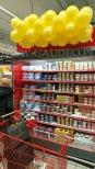 Dekoracja z balonów dla sklepu Carrefour.
