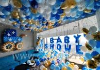 Balonowa dekoracja na BABY SHOWER we Wrocławiu.