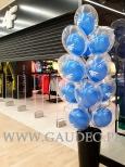 Balony z helem w Gliwicach na otwarcie salonu 4F w Centrum Handlowym Forum.