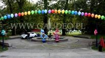 Balonowe dekoracje na Międzynarodowy Festiwal Krasnoludków.