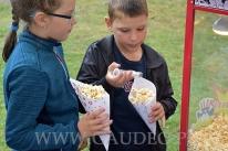 Dzieci solą popcorn.