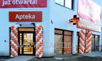 Kolumny balonowe z okazji otwarcia apteki w Dzierżoniowie.