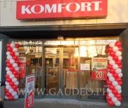 Balonowe kolumny w Centrum Handlowym Mińska 58.