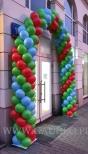 Brama balonowa w Warszawie.
