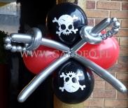 Pirakie dekoracje z balonów.
