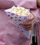 Popcorn w rożku.