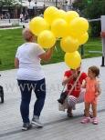 Balony z powietrzem i nadrukiem.