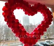 Balonowa dekoracja na walentynki w Warszawie.