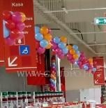 Balonowa dekoracja kas.