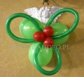 Stroik z balonów na Święta.