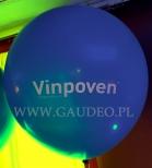 Balon metrowy z nadrukiem.