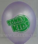 Balon z nadrukiem reklamowym dla Tonny Kids.