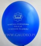 Balon z nadrukiem dla Policji w Środzie Śląskiej.