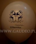 Balon z nadrukiem na imprezę firmową.