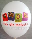 Balon z nadrukiem fullkolor.