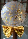 Balon z konfetti i helem.