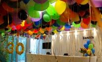 Balony z helem w warszawskim biurze.
