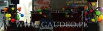 Balonowa dekoracja na otwarciu Galerii Ostrovia nawiązująca do jej logotypu.