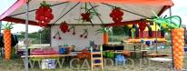 Namiot animacji udekorowany balonami.