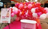 Balonowa dekoracja na imprezę w Galerii Handlowej.