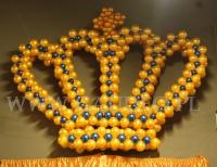 Balonowa korona na imprezie w stylu Carskiej Rosji.
