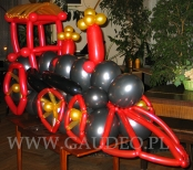 lokomotywa z balonów