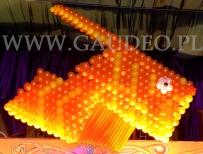 Balonowa ryba dekorująca event z tematem Podwodny Świat.