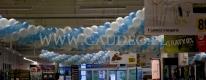 Balonowe girlandy na otwarciu sklepu Decathlon we Wrocławiu.