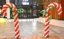Balonowe dekoracje Świąteczne.