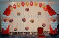 Balonowa dekoracja na imprezę Mikołajową w Novotelu.