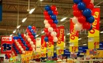 Balonowe sople w hipermarkecie Real.