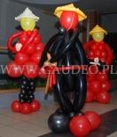 Balonowi Chińczycy na otwarcie Chińskiej restauracji WOOK we Wrocławiu.